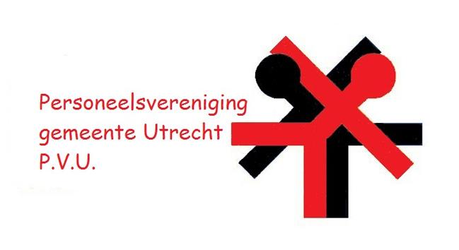 Het logo van de personeelsverenging Gemeente Utrecht P.V.U.