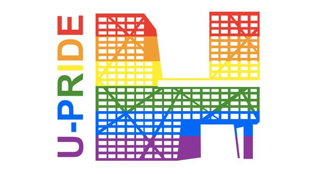 Het logo van de U-Pride